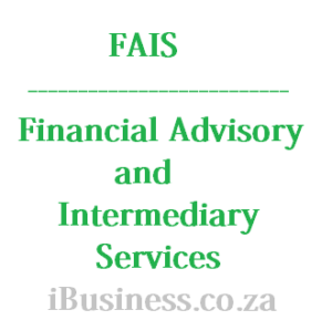 FAIS - Financial Advisory and Intermediary Services