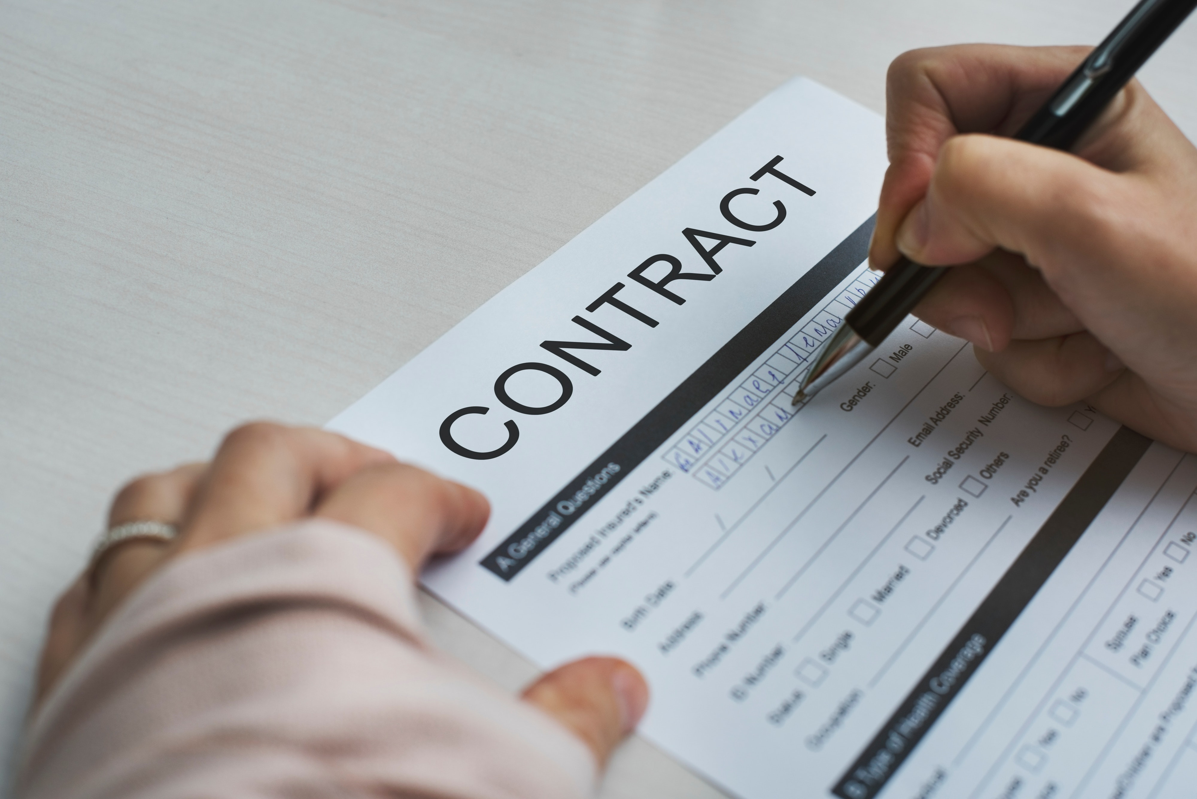 igning a Contract