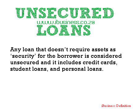 Learning about an Unsecured Loan