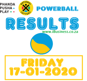 Friday Powerball Results - 17 January 2020