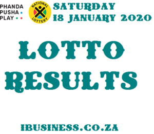 Lotto Results for Saturday, 18 January 2020