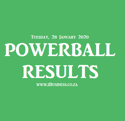 Powerball Results Tuesday 28 January 2020 Live Draw On E Tv