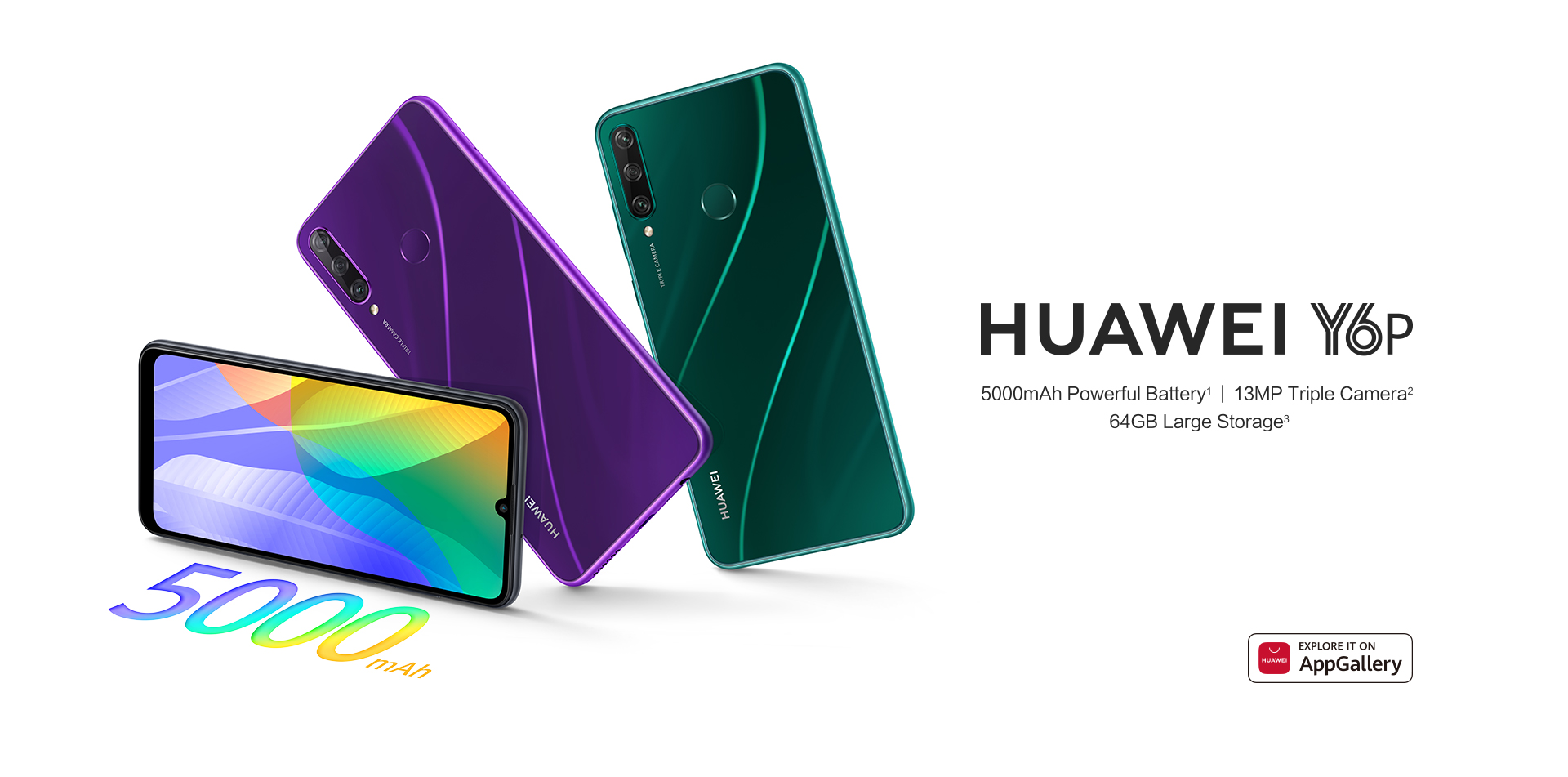The new Huawei Y6p,