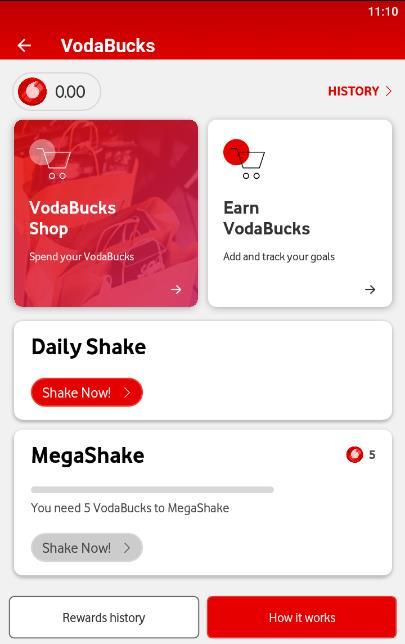 VodaBucks, Vodacom's loyalty rewards points used for Shaking and Shopping 2020