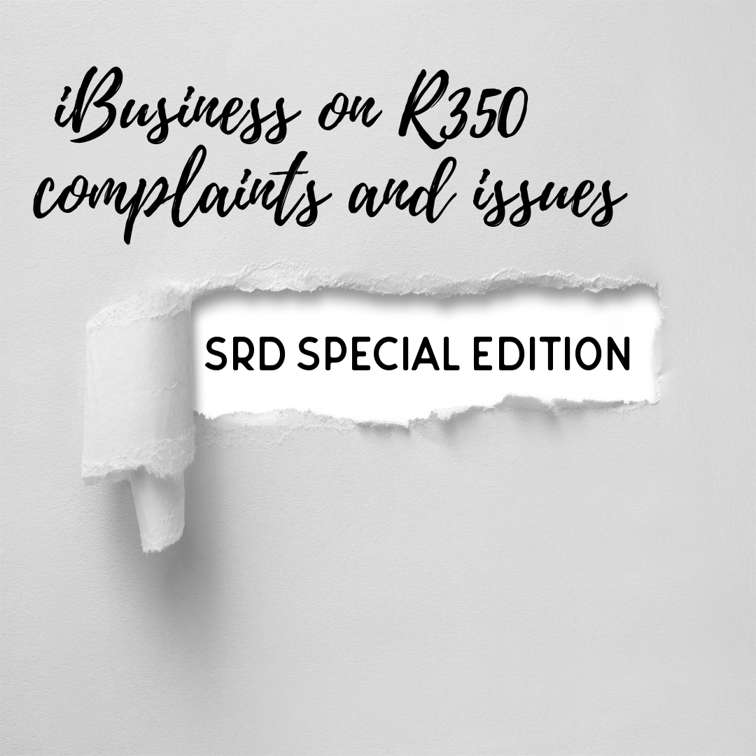 Special R350 SRD Edition iBusiness wants to help with issues still faced by applicants (Where to complain)
