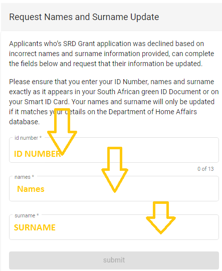 REQUEST CHANGE OF NAMES - Home Affairs Check Id Application Status